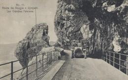 Route de Bougie � Djidjelli. Les grandes falaises. Algeria. Sent from Russia to Denmark 1911.  s-1772