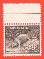 AUS SC #298 MNH 1956 Definitive / Platypus CV $17.00 - 1952-65 Elizabeth II : Pre-Decimals