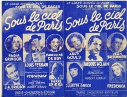 40-60 PARTITION***HELIAN JULIETTE GRECO SOUS LE CIEL DE PARIS FILM DUVIVIER GRINGOR SPIERS GOULD FREDERICA 1951 - Music & Instruments
