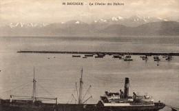 cpa BOUGIE, la cha�ne enneig�e des babors, au premier plan :  le port   (44.84)