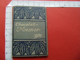 1931 calendrier chocolat menier