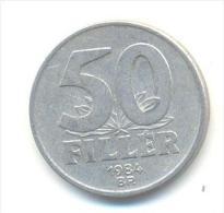 UNGHERIA  50 FILLER ANNO 1984 - Hongrie