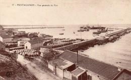 cpa 1915, MOSTAGANEM vue g�n�rale du port et des b�timents, barils de vins, navires (44.85)
