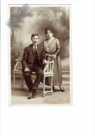 carte photo - 71 - PHOTOGRAPHIE FAFOURNOUX & CAZAUTETS MONTCEAU-LES-MINES - couple Femme et Homme