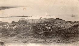 """cpa PORT-SAY, la casba des marins pocoyas sur son promontoire  et le yacht """"l'Eider"""", au loin la plage    (44.87)"""
