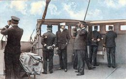 Deutscher Flottenverein Karte, Der Kronprinz Des Deutschen Reiches Auf Der Kommandobrücke Des Flottenflaggschiffes S.M. - Manöver