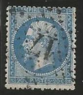 France - Napoleon III - N°22 Bleu - Obl. étoile De Paris - Chiffre Bureau 17