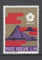 VATIKAN Mi-Nr. 559 Weltausstellung EXPO '70, Osaka Postfrisch - Vatican