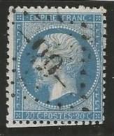 France - Napoleon III - N°22 Bleu - Obl. GC 99 ANGERS