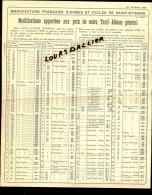 MANUFACTURE FRANCAISE D'ARMES Et CYCLES De SAINT ETIENNE Modifications Des Prix De Notre Tarif Album Général 1937 - Catalogues