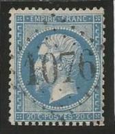 France - Napoleon III - N°22 Bleu - Obl. GC 1076 COLMAR