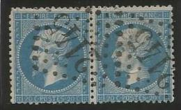 France - Napoleon III - N°22 Bleu - Obl. GC 2145 LYON (paire)