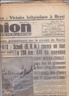 L�UNION.Grand Prix Schell sur le circuit de Reims/ Le G�n�ral DE GAULLE ordonnerait � l�Arm�e d�Alg�rie de passer � l�of