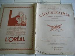 L�ILLUSTRATION 15 AVRIL 1922-MAROC- FEZ-PERLES DE CULTURES ET FINES- EINSTEIN-RHINOCEROS-MORT DE CH. HASBOURG