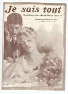 Plaquette  de LELONG JE SAIS TOUT Magazine encyclop�dique illustr� n�1 15 f�vrier 1905 Abonnement