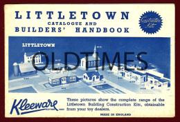 ENGLAND - KLEEWARE - LITTLETOWN CATALOGUE - BUILDERS HANDBOOK - CONSTRUCTION KITS - 1950 OLD CATALOGUE - Books, Magazines, Comics