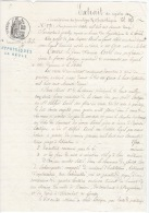 Incriptions Registre Des Hypothèques 1872 - Cachets Généralité