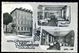 Cpsm Allemagne Karlsruhe Hotel Restaurant Winzerhaus   HIV11 - Karlsruhe