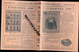 JE SAIS TOUT Etrennes 1905 pub pour FEMINA LA JOIE DES ENFANTS MUSICA et LA VIE AU GRAND AIR