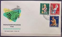 """Bund 297-300 FDC  """"Wohlfahrt - Landwirtschaft"""" - FDC: Briefe"""