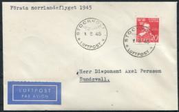 1945 Sweden Stockholm First Flight - Sundsvall