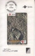 USA - 25th Anniversary Apollo 11(1969-1994), Sprint Prepaid Card $8, Tirage 5000, Mint