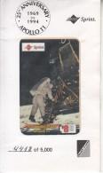 USA - 25th Anniversary Apollo 11(1969-1994), Sprint Prepaid Card $8, Tirage 5000, Mint - Sprint