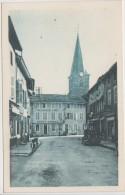 SAINT TRIVIER DE COURTES LE CARREFOUR ET L'EGLISE HOTELGIROUX AU SOLEIL D'OR TBE - France