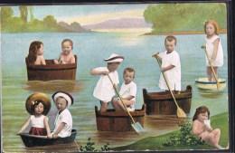 Enfants Sur L'eau . - Cartes Humoristiques