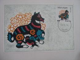 Maximum Card Of Vietnam Viet Nam 1994 : Year Of Dog (Ms675) - Vietnam
