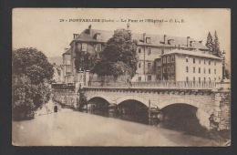 DF / 25 DOUBS / PONTARLIER / LE PONT ET L'HÔPITAL / CIRCULÉE EN 1915 - Pontarlier
