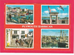 Multi View Of,Plymouth Barbican, Devon, England,Posted With Stamp, A11. - Plymouth