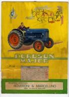 Trattori Fordson Insegna 1955 Calendario Originale Cardboard Sign Calendar Original - Targhe Di Cartone