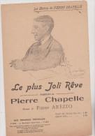 (LE) Le Plus Joli Reve ; Paroles : PIEERE CHAPELLE , Musique : PIERRE AREZZO , Illustrateur : F BELLANGE - Partitions Musicales Anciennes