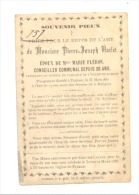 Faire-part De Décès De Pierre VARLET, Conseiller Communal, Président De La Fabrique D'Eglise - FLERON 1887 (b157) - Obituary Notices