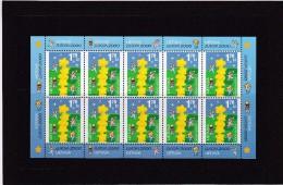 Lietuva 2000, Europe issue, kleibogen of 10 stamps MUH