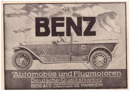 Original Werbung - 1916 -  Benz & Cie. , Mannheim , Automobile !!! - Fahrzeuge