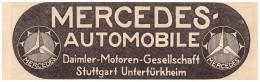 Original Werbung - 1916 - Mercedes , Daimler In Stuttgart , Automobile !!! - KFZ