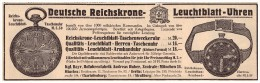 Original Werbung - 1916 - Reichskrone - Leuchtblattuhren , Uhr , Uhren , Fabrik A. Huber In München !!! - Taschenuhren