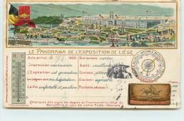 PANORAMA EXPOSITION DE LIEGE 1905 - Voir Vignette Au Dos De La Carte. - Liege