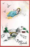 CARTOLINA VG ITALIA - BUON NATALE - Gesù Bambino - Villaggio Innevato - Ponte - 9 X 14 - ANNULLO FRANCOFONTE 1940 - Altri