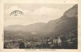 73 CHAMPAGNEUX - Vue Générale Et Le Rhône - Andere Gemeenten