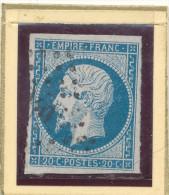 N°14A  VARIETE  NUANCE ET OBLITERATION. - 1853-1860 Napoleon III