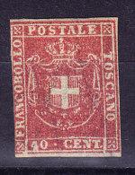 Toskana 1860 Mi.#21* Mit Falz 40 Cent Karmin Sassone # S21 - Toscane