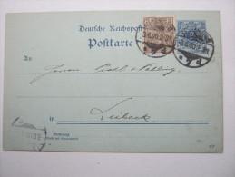 1900, Mischfrankatur Als Karte - Brieven En Documenten