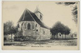 CPA - MANTES-LA-VILLE (Seine Et Oise) - L'Eglise - Publicité Chicorée Paul Mairesse Cambrai - Mantes La Ville