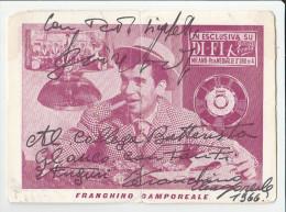 CANTANTI SPETTACOLO MUSICA AUTOGRAFO 1966 FRANCHINO CAMPOREALE CANTANTE BATTERISTA  CARTONCINO FORMATO CARTOLINA 11X15 - Autografi