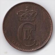 Denmark, 2 Øre, 1887 CS, 2 Scans. - Danimarca