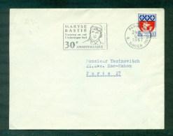 Flamme Maryse Bastié 30ème Anniversaire 1967 - Mechanische Stempels (reclame)