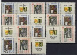 Lot DDR ZD Michel No. 1052 - 1053 /  W Zd 138 - 143 ** postfrisch